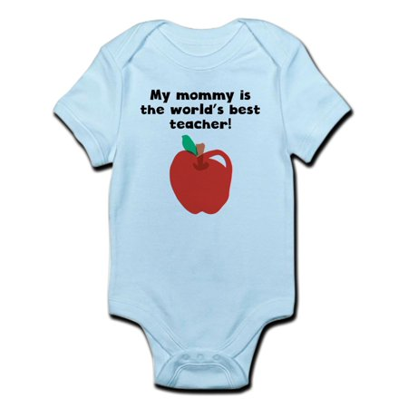 CafePress - My Mommy Is The Words Best Teacher Body Suit - Baby Light (Best Wishes On New Born Baby Boy)