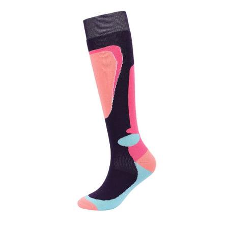 Kids Snow Ski Socks Full Terry Lightweight Warm Merino Wool Skiing Socks Wool Kids Comfort Ski Socks