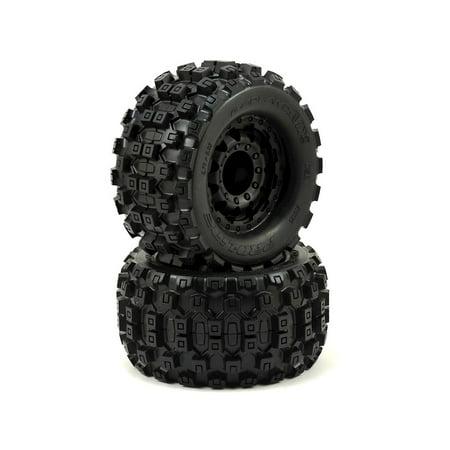 "Pro-Line Badlands MX28 2.8"" Tires w/F-11 Nitro Rear Wheels (2) (Black)"