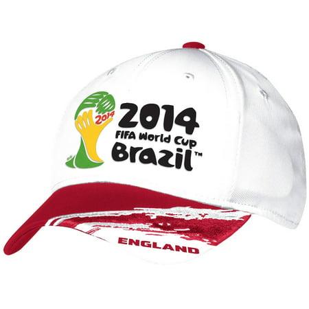 England Adidas 2014 FIFA World Cup Structured Flex Hat - White ()
