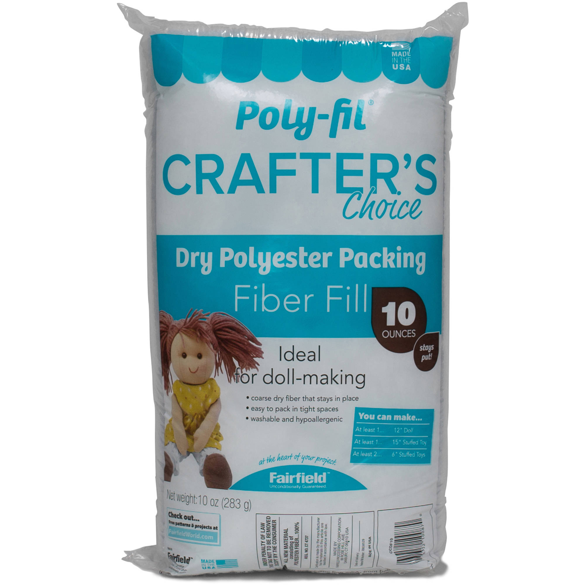 Crafter's Choice Polyester Fiberfill, 10 oz