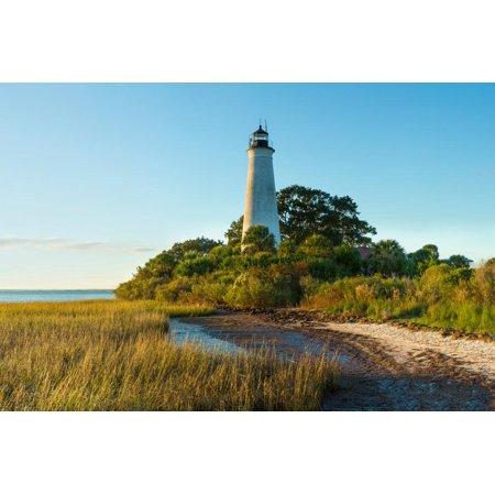 Lighthouse Florida Usa Framed (St. Marks Lighthouse on the Coast, St. Marks National Wildlife Refuge, Florida, USA Print Wall)