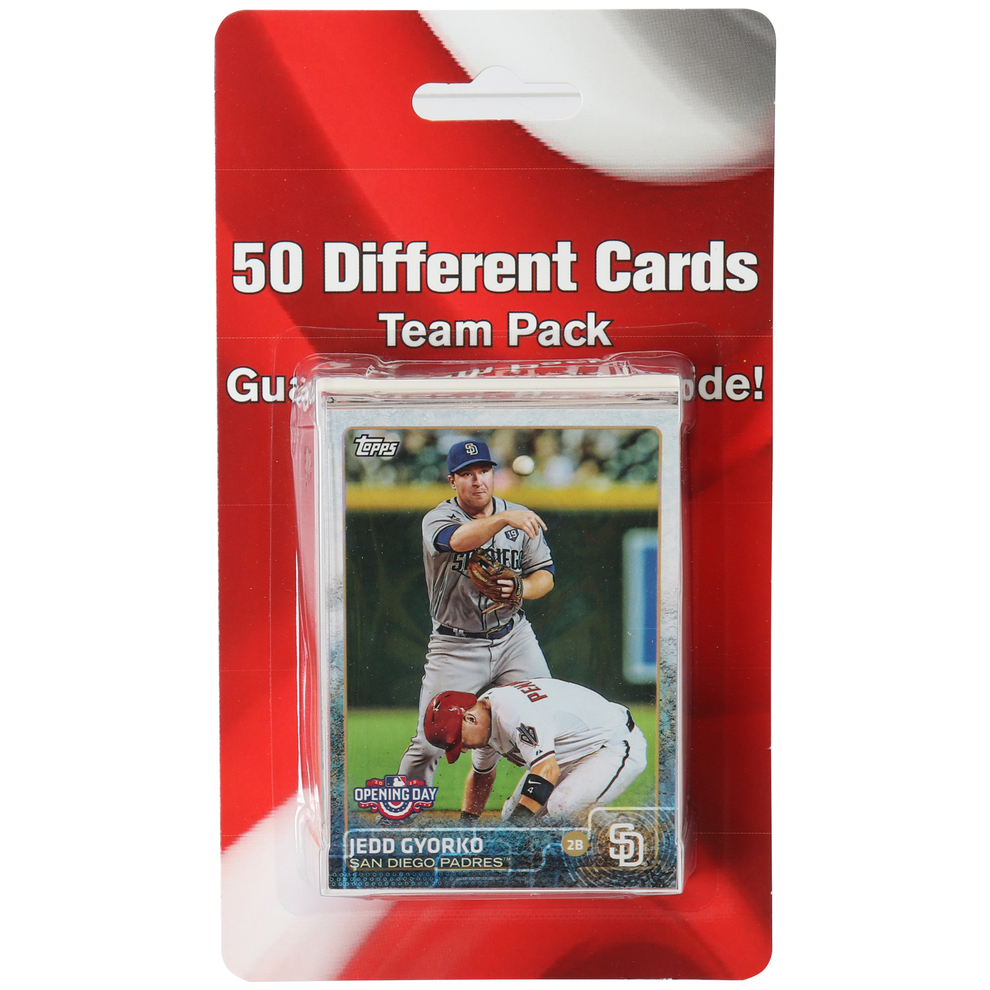 San Diego Padres 50 Card Team Pack Trading Cards - No Size