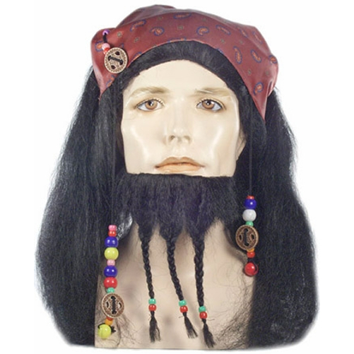 Captain Jack Sparrow Wig And Beard Pirates of The Caribbean Costume Mens - image 1 of 1