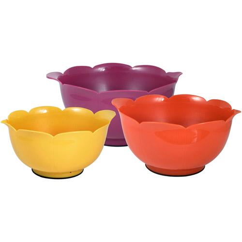 Kizmos Flora Plastic Mixing Bowls