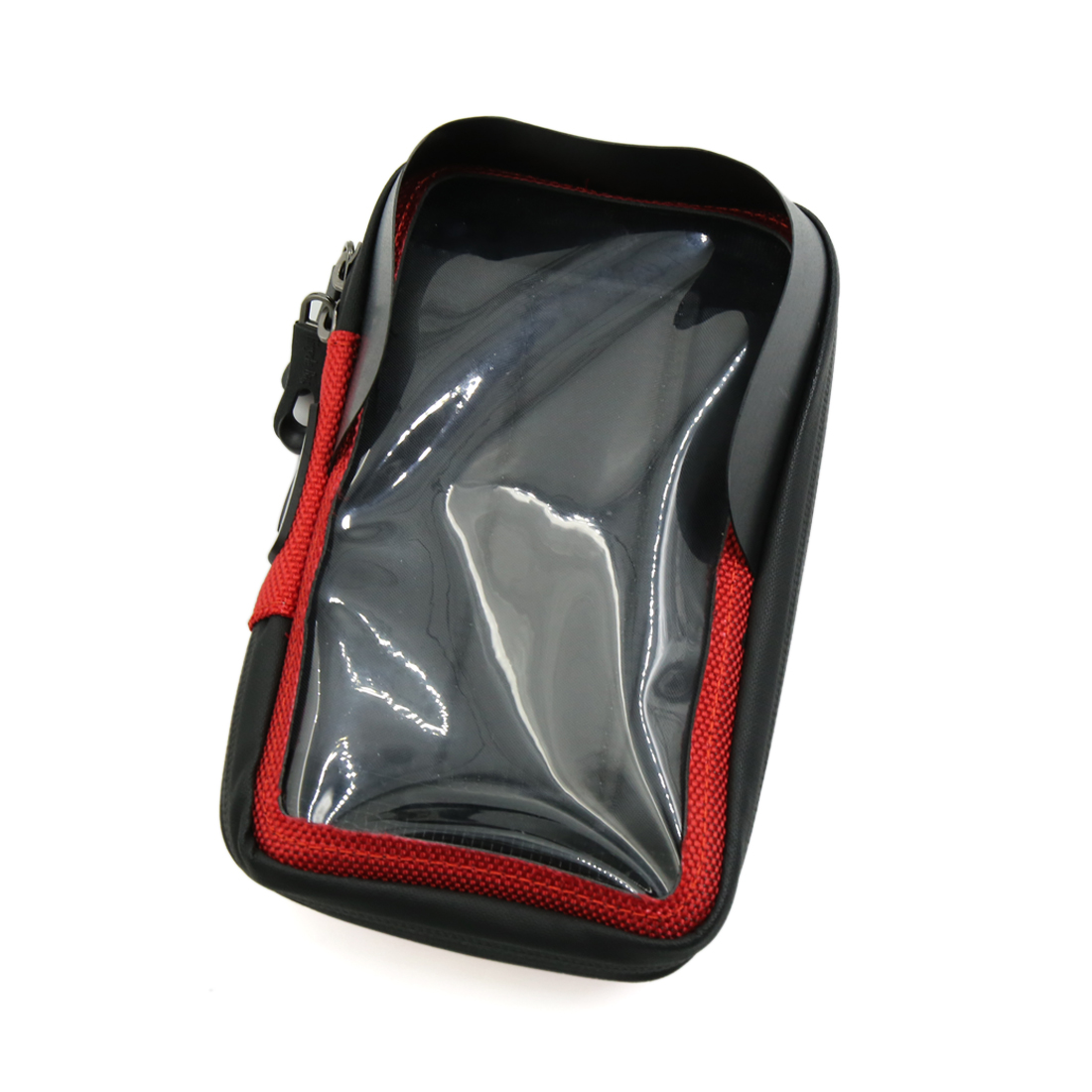 Red Outdoor Shading Waterproof Touchscreen Front Frame Phone Bag for Bicycle
