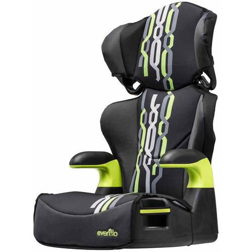 Evenflo Big Kid Sport High Back Booster Car Seat, Jake Black