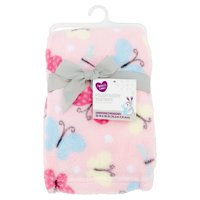 Parent's Choice Plush Baby Blanket, Pink Butterfly