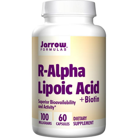 Jarrow Formulas R-Alpha Lipoic Acid, Supports Energy, Cardio Vascular Health, 100 mg, 60 (Alpha Energizing Formula)