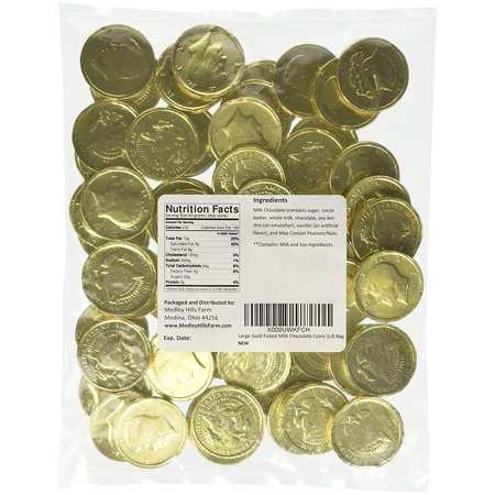 Large Gold Foiled Milk Chocolate Coins 1LB Bag - 1 Pack - Coin Chocolate