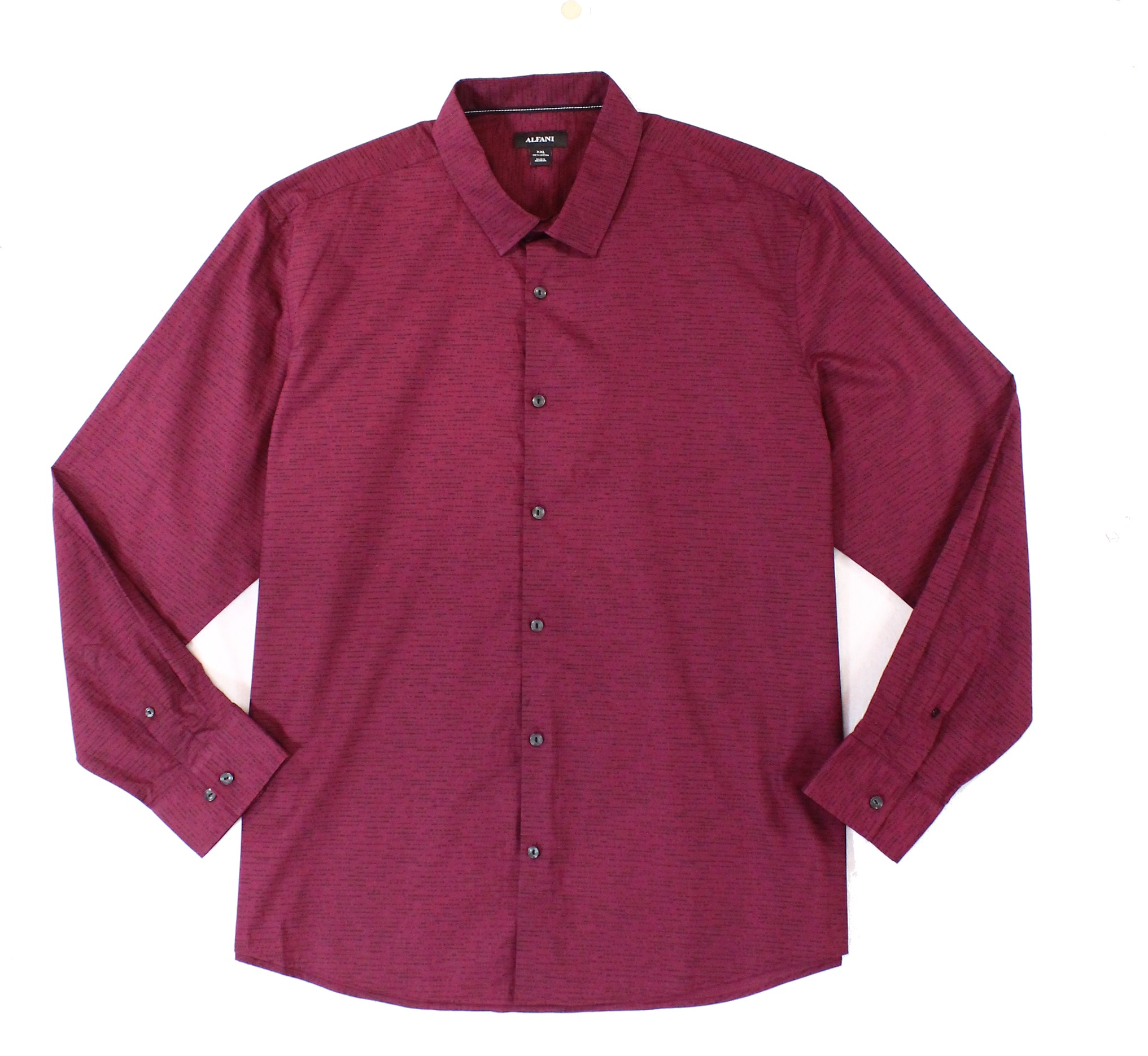 Alfani NEW Savory Wine Red Mens Size 2XL Craven Dash Button Down Shirts