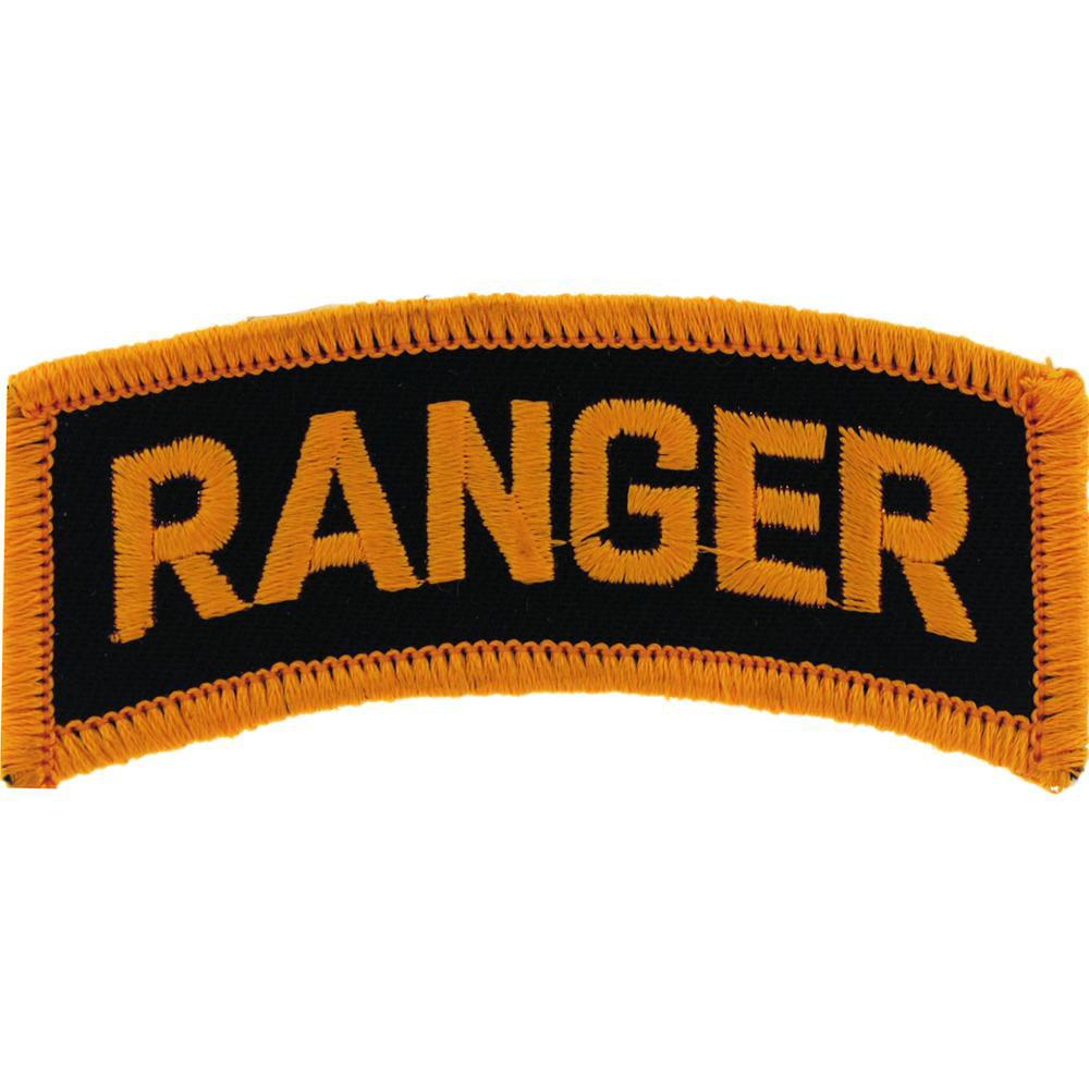 "U.S. Army Ranger Patch Black & Yellow 3"""