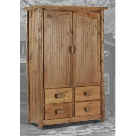 Chelsea Home Furniture 85507521-C-A-W-2 Duxbury Rustic Armoire Honey Pine, Wood Tone - 75 x 50 x 21 in. ()