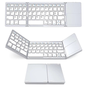 Peroptimist Foldable Keyboard ,Three-fold Bluetooth Keyboard,with Touchpad Mouse for Android, Windows, PC, Tablet WHITE