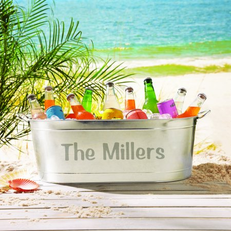 Personalized Galvanized Family Name Beverage Tub or Tub with Stand](Plastic Beverage Tubs)