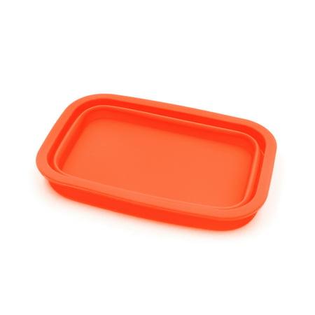 Orange Silicone Retangle Shaped Car Dashboard Non-Slip Phone Holder Storage Box for $<!---->