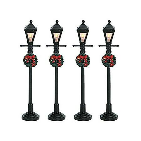 Lemax Mini Lamp Post Set Village Accessory Multicolored Resin 4 in. ()