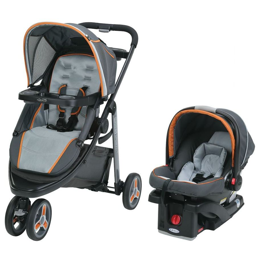 Graco Modes Sport Click Connect Travel System Tangerine by Graco