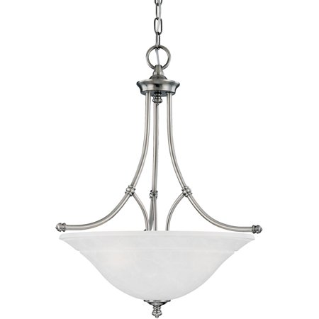 Pendants 3 Light Fixtures With Satin Pewter Finish Metal Material E26 21