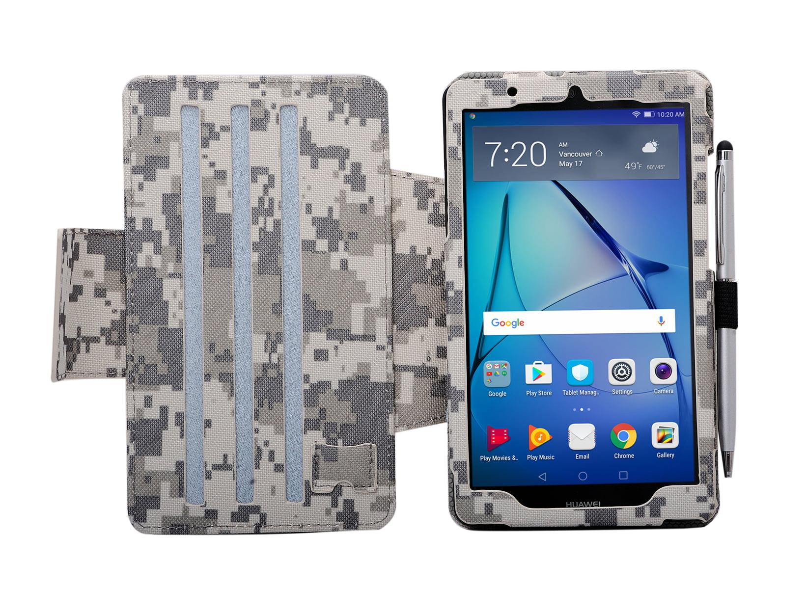 wholesale dealer efece 7633f i-UniK Huawei MediaPad T3-7 Slim Folio PU Leather Tablet CASE with Bonus  Stylus - ACU CAMO