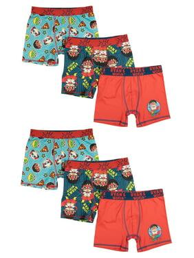 Ryan's World, Boys Underwear, 6 Pack Boxer Brief Sizes 4/5 - 8