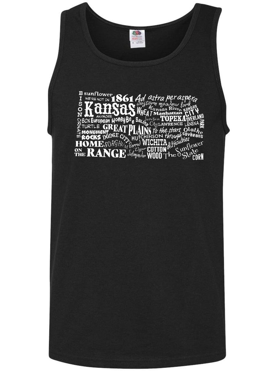 e36ae3c375ca4c Inktastic - Kansas Word Salad- state outline Men s Tank Top - Walmart.com