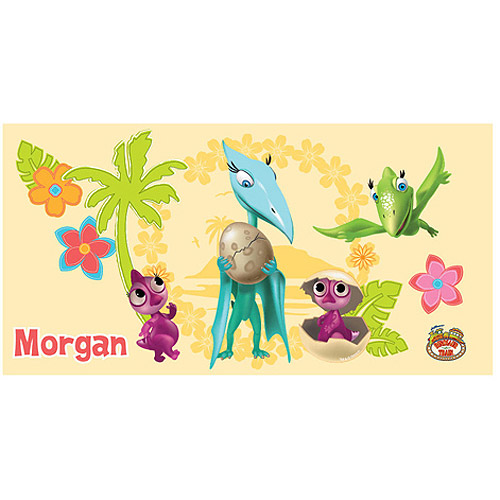 Personalized Dinosaur Train Hatching Party Beach Towel