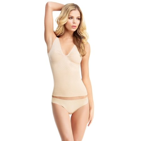 SlimMe By MeMoi Women`s Basic Control Shaping Tank, MSM-117, S/1, Nude