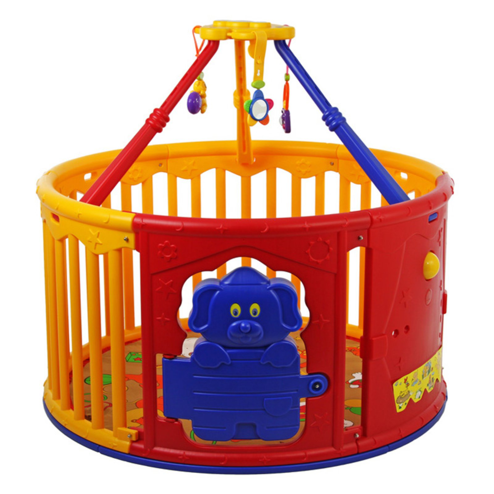 Dream On Me Deluxe Circular Playard with Jungle Gym
