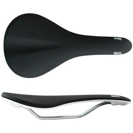 Fabric Scoop Elite Flat Saddle: Black/White