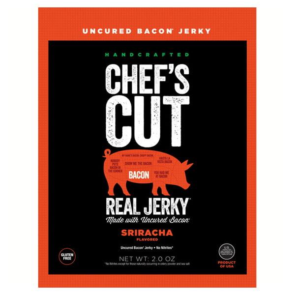 Chef's Cut Handcrafted Sriracha Real Bacon Jerky 2 oz Bag...