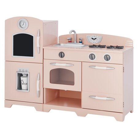 Teamson Kids Little Chef Fairfield Retro Play Kitchen - Pink