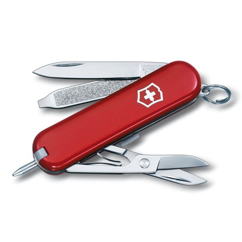 Victorinox Swiss Army Signature Pocket Knife Multi-Tool 54091 - Red