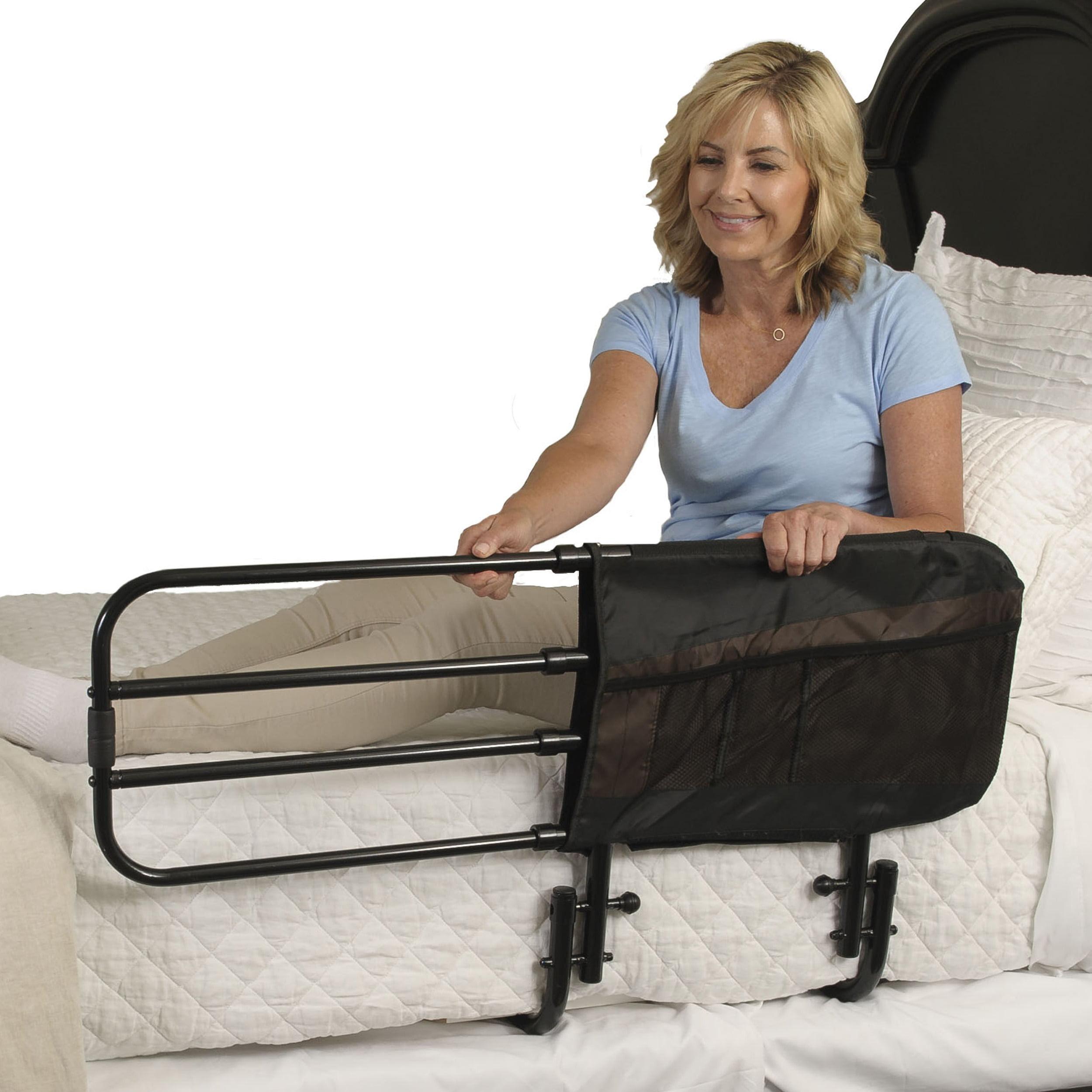 Stander Ez Adjust Bed Rail Adjustable Adult Bed Rail And Elderly Bed Assist Hand Rail For Seniors Walmart Com Walmart Com