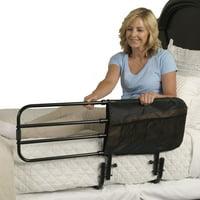 Stander EZ Adjust Bed Rail, Adjustable Adult Bed Rail and Elderly Bed Assist Hand Rail for Seniors
