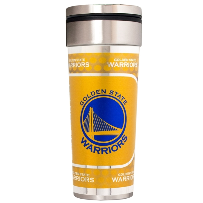 Golden State Warriors 22 oz Stainless Steel Travel Tumbler Metallic Graphics NFL Mug Cup