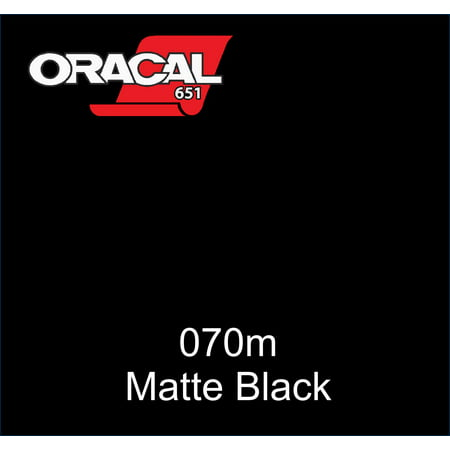 "12"" x 5 ft ORACAL 651 Black Matte (070M) Adhesive Vinyl for Craft, Decal, Sign. Compatible with Cricut, Silhouette, ANY Machine"