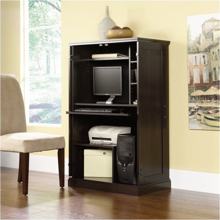 Oak Computer Armoire - Pemberly Row Cinnamon Cherry Computer Armoire