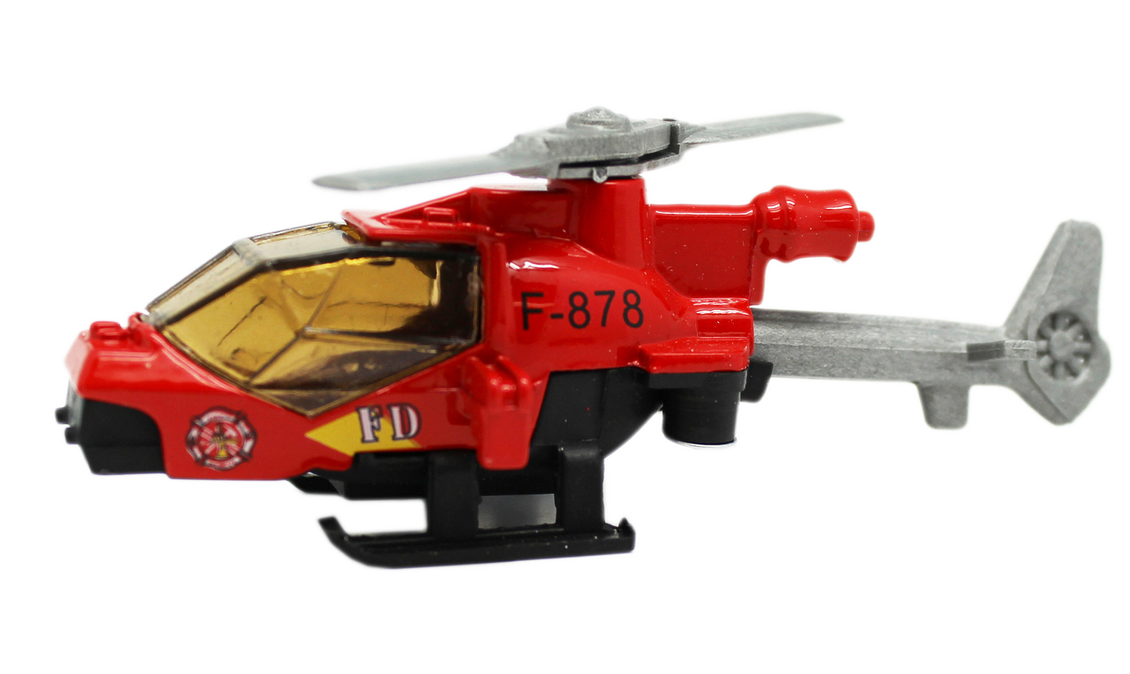 Die-Cast Fire Air Response Helicopter Model Vehicle Toy by