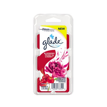 Glade Wax Melts Air Freshener Refill, Blooming Peony & Cherry, 6 refills, 2.3 oz