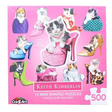 LaFayette Puzzle Factory™ Pretty Kitties Multi-Shaped Jigsaw Puzzle