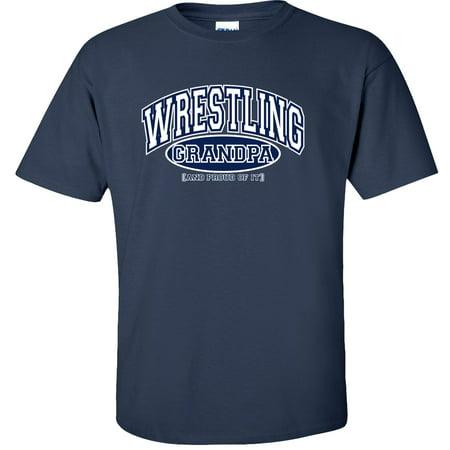Wrestling Grandpa and Proud of It T-Shirt