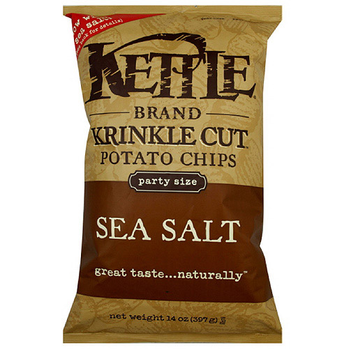 Kettle Brand Krinkle Cut Sea Salt Potato Chips, 14 oz (Pack of 10)