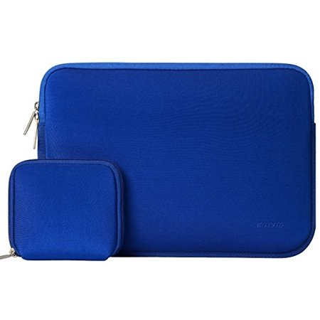 12' Sport Netbook Sleeve (Mosiso Water Repellent Lycra Sleeve Bag Cover for 11-11.6 Inch MacBook Air, Ultrabook Netbook Tablet with Small Case, Royal Blue)
