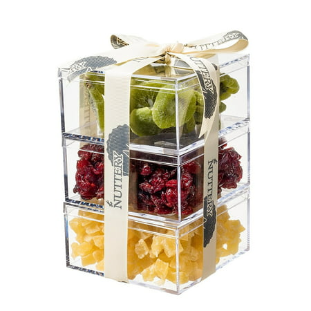 Cranberry Lovers Gift - The Nuttery Premium Dried Fruit Gourmet Gift Tower ~ Kiwi ~ Cranberry ~ Pineapple ~