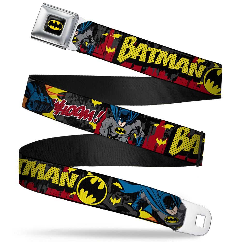 "Batman Fcg Black Yellow 1.0"" Chrome Batman In Action Batman Whoom! Red Web Belt... by"