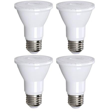 4 Pack Bioluz LED PAR20 LED Bulb Dimmable Outdoor Indoor Spot Light 3000K Soft White UL Listed