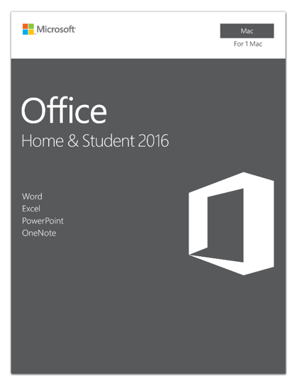 Microsoft Office Home and Student 2016 for Mac | 1 user, Mac Key Card by Microsoft
