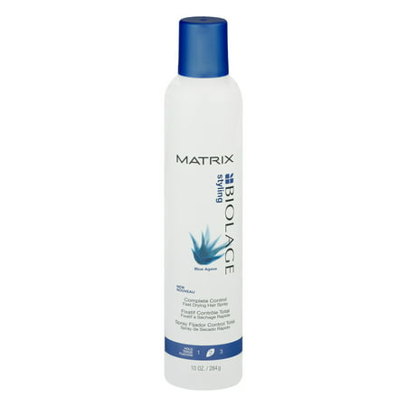 Matrix Biolage Styling Complete Control 2 Medium Hold Blue Agave Fast Drying Hair Spray, 10 Oz (Blue Hair Spray Paint)