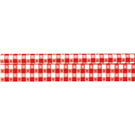Red Gingham Plastic Tablecloth Roll, 40